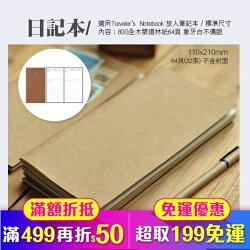 日記 適用於 Traveler's Notebook 旅人筆記本 標準尺寸 內頁(84-0009)