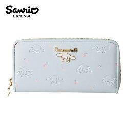 【日本正版】大耳狗 皮革壓紋 長夾 皮夾 錢包 喜拿 Cinnamoroll 三麗鷗 Sanrio - 250280