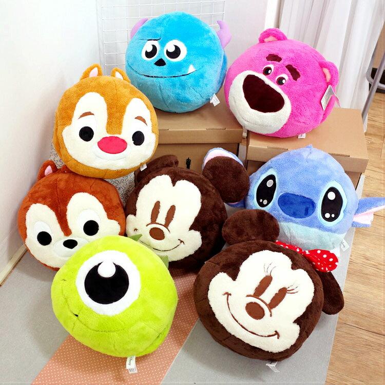 PGS7 迪士尼系列商品 - 迪士尼 圓球 暖手 抱枕 娃娃 暖手枕 史迪奇 熊抱哥 米妮【SJB7180】