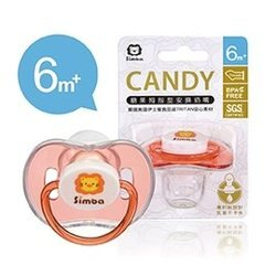 小獅王 辛巴 Simba 糖果拇指型安撫奶嘴-粉色(較大) 6m+ (S19041)【紫貝殼】