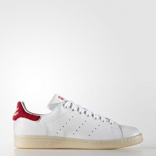 ADIDAS Originals Stan Smith 女鞋 休閒鞋 白 紅 膠底 皮面 【運動世界】 S32256