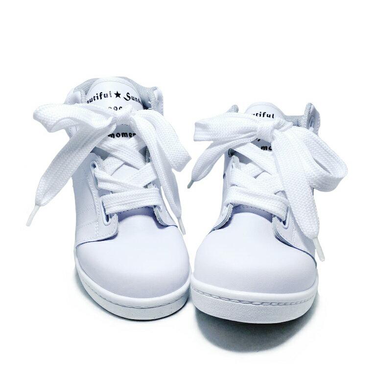 【滿額領券↘折$120】女款韓系寬帶5cm內增高休閒鞋 [32002] 白 MIT台灣製造【巷子屋】