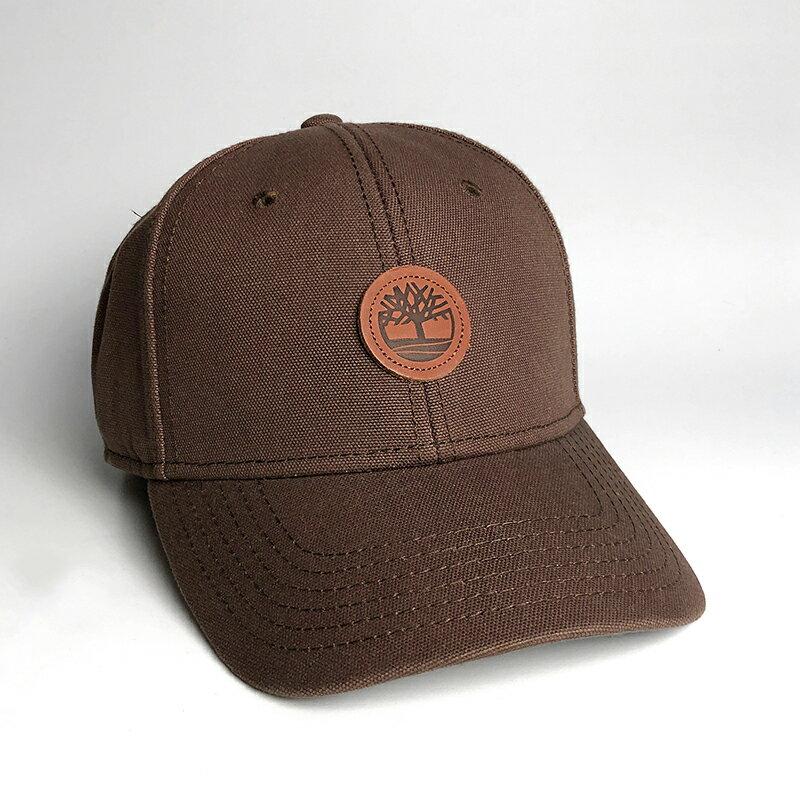 美國百分百【全新真品】Timberland 帽子 老帽 棒球帽 男帽 遮陽帽 鴨舌帽 經典LOGO 深咖啡/駝色 H616