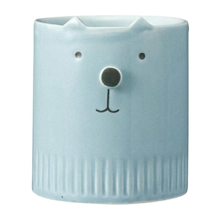 DECOLE 貓咪 藍色 立體鼻 陶瓷 馬克杯 咖啡杯 水杯 杯子 可愛造型 療癒 日本進口正版 483544