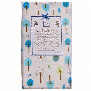 美國【Swaddle Designs】薄棉羅紗多用途嬰兒包巾 (小樹藍)