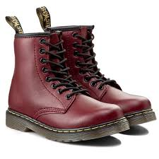 DR MARTENS DELANEY JUNIOR 櫻桃紅 童鞋 US 1~13 15382601 B