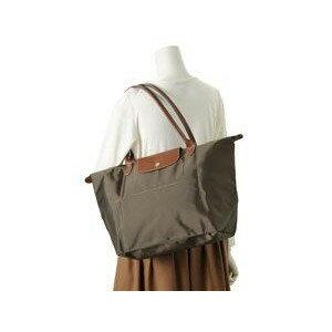[長柄M號]國外Outlet代購正品 法國巴黎 Longchamp [1899-M號] 長柄 購物袋防水尼龍手提肩背水餃包 枯葉草 4