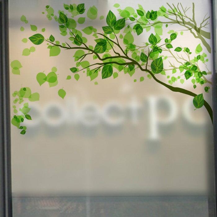 壁貼 清新之語 窗戶磨砂玻璃貼 居家裝飾牆壁貼紙【YV7582】HappyLife
