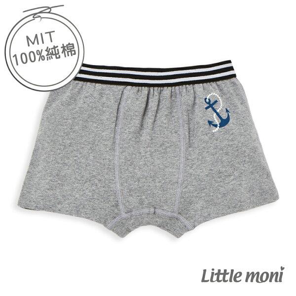 Littlemoni家居系列男童四角內褲-麻花灰