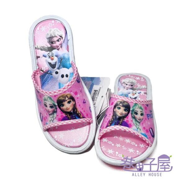 【巷子屋】FROZEN冰雪奇緣童款造型休閒拖鞋[64023]粉MIT台灣製造超值價$100