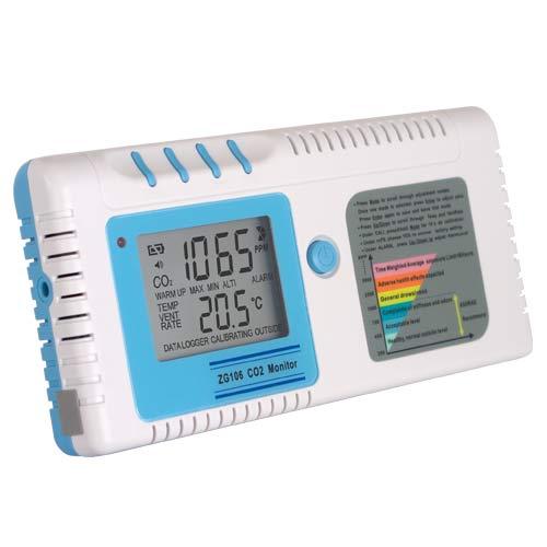 【CO2偵測器】ZG-106 CO2偵測器/二氧化碳及溫度監測儀