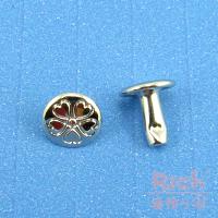 【原價4元,特價3元】裝飾扣B16-幸運草撞釘-銀色-8*8mm 0