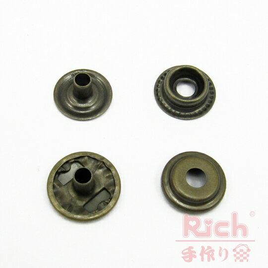 【原價8元,特價6元】B23-15mm四合扣-古銅