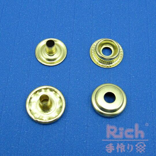 【原價8元,特價6元】B23-15mm四合扣-金色