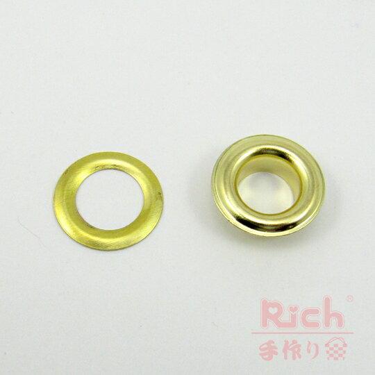【原價6元,特價5元】裝飾扣B25(金)-15mm雞眼