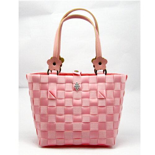 俏麗包-粉紅色【材料包】松紋帶+珍珠帶
