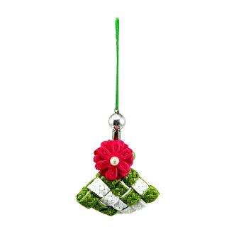 粽子吊飾-手機吊飾 (布感織帶/材料包/任選2色搭配)