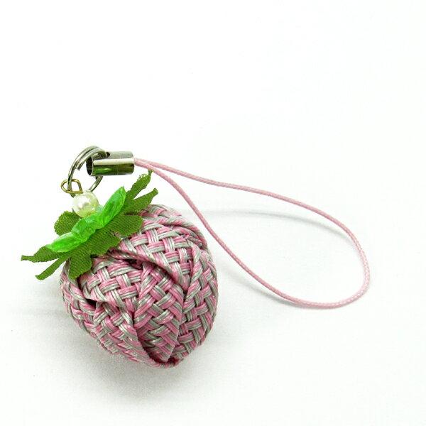 草莓吊飾-布感織帶 (B2雙色/材料包)