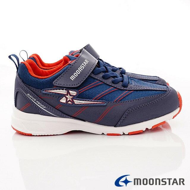 日本Moonstar機能童鞋 防水系列運動鞋 9295深藍(中大童段) 3