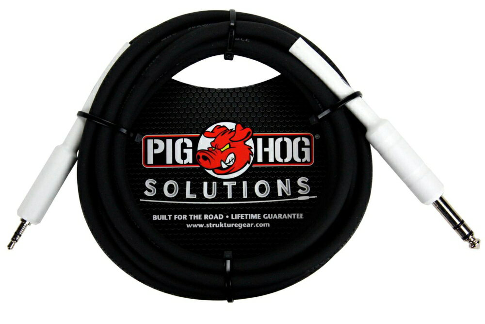 Pig Hog Solutions 1/4 TRS to 1/8 Mini Adapter Cable 10 ft.