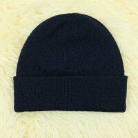 保暖配件推薦紐西蘭100%純羊毛帽*素面深藍色(美麗諾Merino)