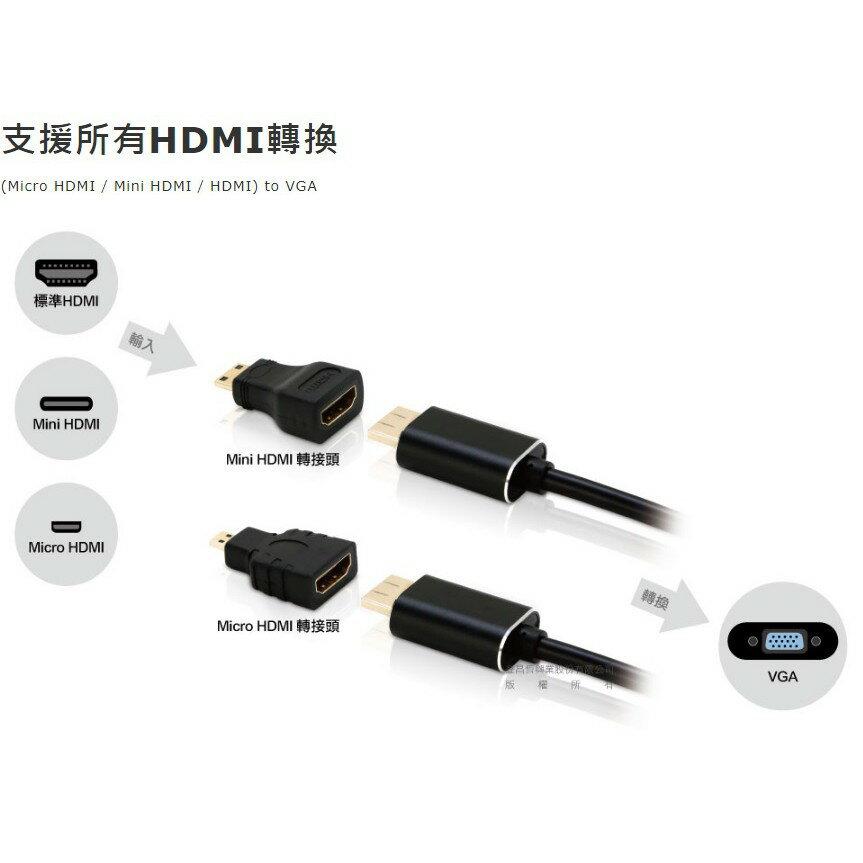 Uptech登昌恆 HC107A HDMI轉VGA轉換器 HDMItoVGA 訊號轉換器 5