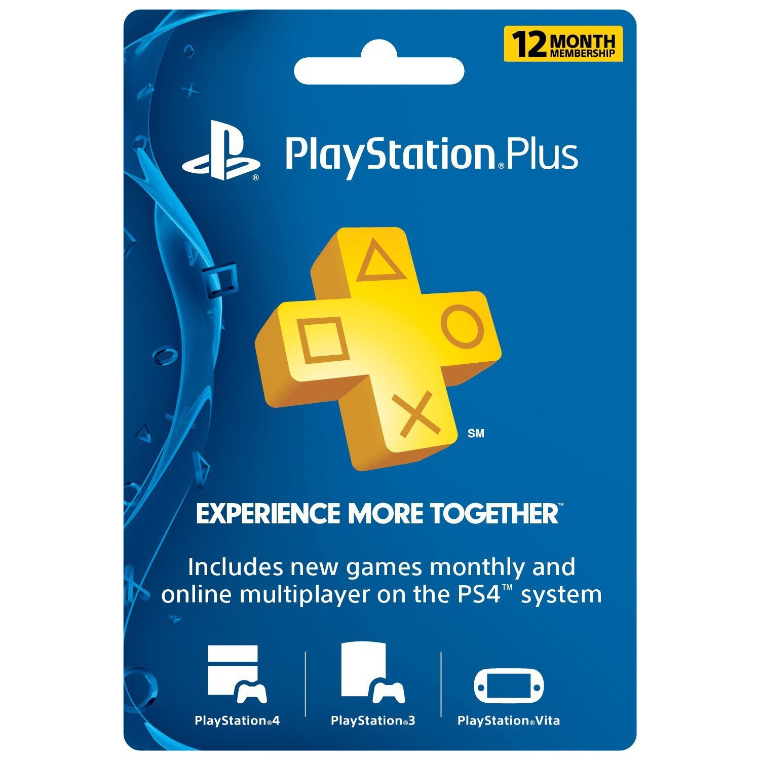 Sony 1 Year PlayStation Plus Membership Subscription Card - PS3/ PS4/ PS Vita