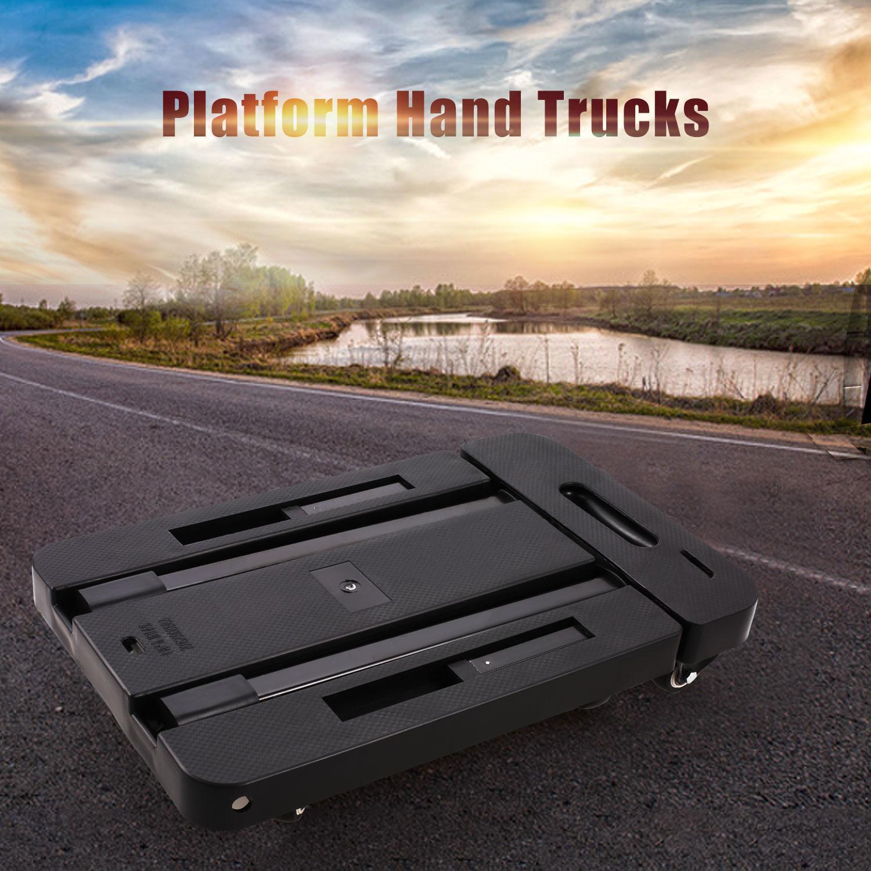 6 Wheels Folding Hand Trucks Load Foldable Luggage Cart Telescopic Rod 3