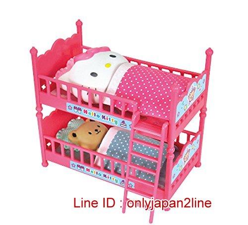 【真愛日本】161213000072段雙層床玩具-KT與小熊    KITTY 凱蒂貓 三麗鷗 扮家家酒 兒童玩具 遊戲
