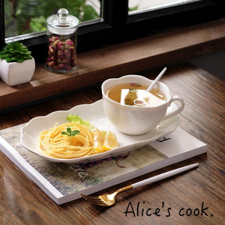 歐式 純淨波紋浮雕碗盤組 早餐碗組 下午茶組 浮雕餐具 個人餐具 經典歐風