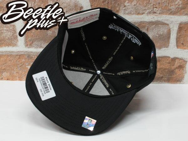BEETLE MITCHELL&NESS NBA 聖安東尼奧 馬刺 黑白 LOGO 後扣 棒球帽 SNAPBACK MN-362 1