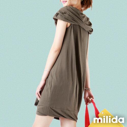 【Milida,全店七折免運】-夏季尾聲-素色款-一字領花苞洋裝 5