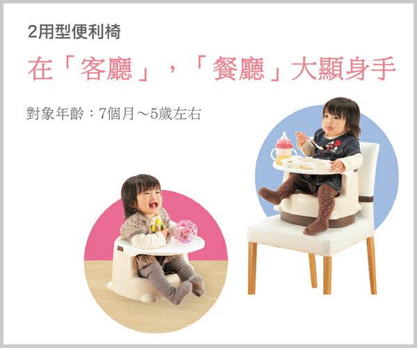 Richell利其爾 - 兩用型便利椅 (粉) 1