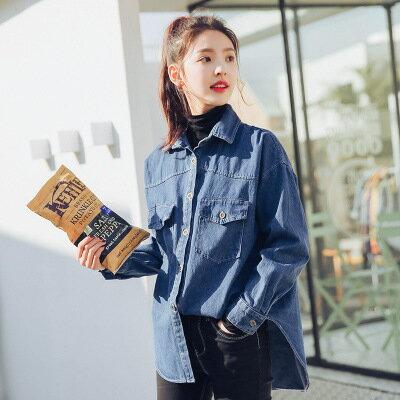 BF風寬鬆水洗牛仔襯衫-RK16-6815樂天時尚館。預購。[全店免運]