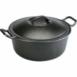 Lodge/鑄鐵鍋/燉鍋/荷蘭鍋/免揉麵包烤模/油炸鍋 美國製 10吋附蓋鑄鐵鍋/25cm3.8升 P10D3/台北山水