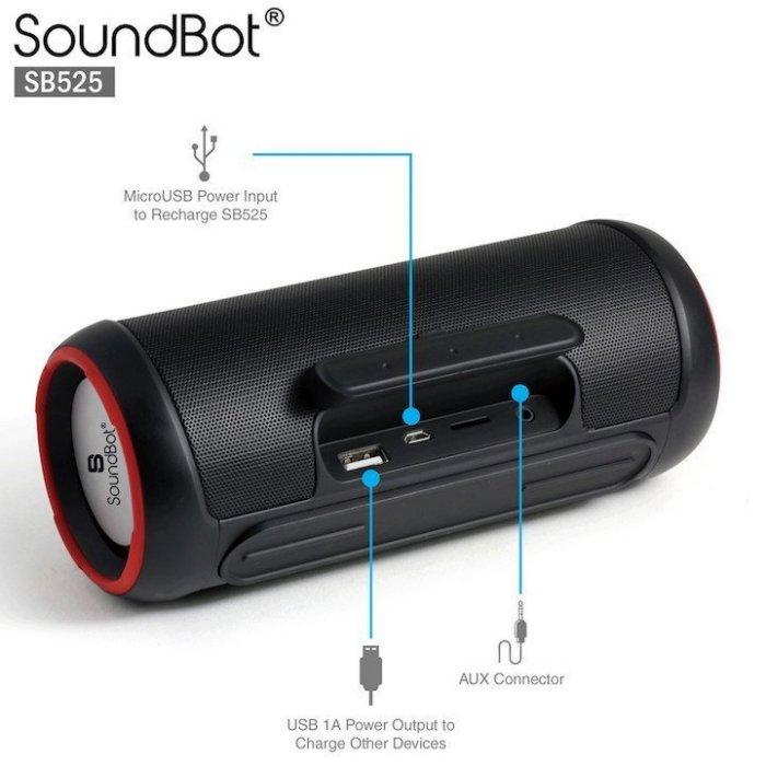 美國聲霸SoundBot SB525 4.0攜帶型藍牙喇叭 藍芽音響 行動電源 JBL 公司貨 14W 杰強