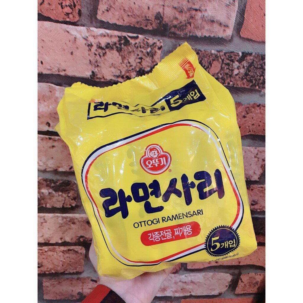 【預購】韓國 不倒翁 Q拉麵 細麵(無調味料)5入/袋
