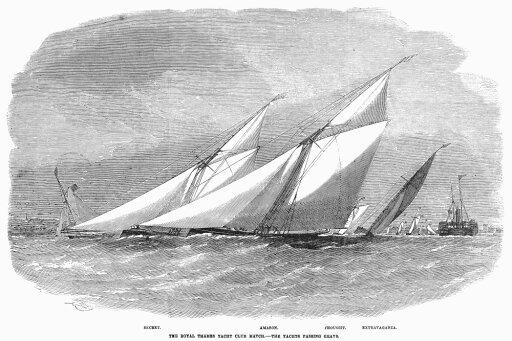 Yacht Race 1856 Nthe Royal Thames Yacht Club Match Near Grays England Wood Engraving 1856 Poster Print by (24 x 36) 1374fdd59a170000d79a708d0b0470b8
