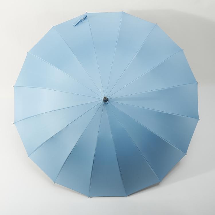 男女用16骨加厚黑膠實木長柄晴雨傘商務傘廣告傘自動抗風創意雨傘【全館免運 限時鉅惠】