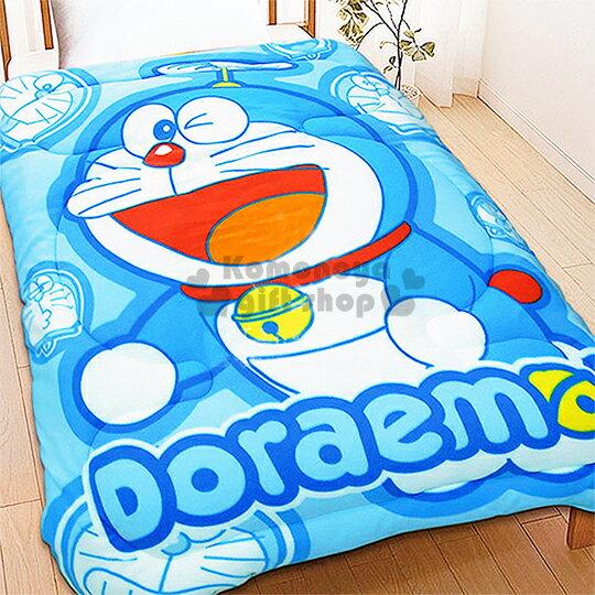 免運下殺↘799〔小禮堂〕哆啦A夢 毯被《藍.眨眼.165x200cm》表面刷毛材質的棉被