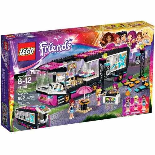 【LEGO 樂高積木】Friends 好朋友系列 - 大明星巡迴巴士 LT 41106