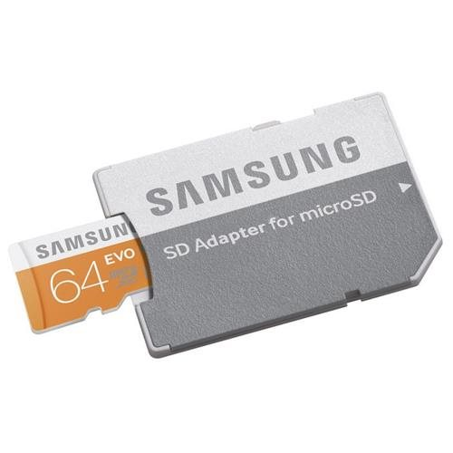 Samsung EVO 64GB microSDXC Class 10 48Mb/s 64G microSD micro SD SDXC UHS-I U1 C10 MB-MP64DA with Original SD Adapter 0