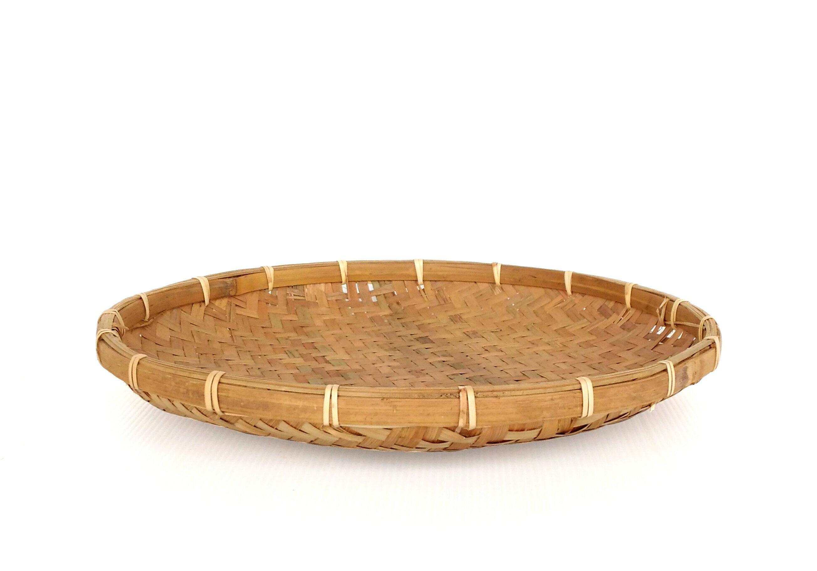 DecoBox日曬用薄竹盤(38公分-5個)(竹編織盤.乾阿.湯圓篩.洗菜籃.土豆苔.竹篩)