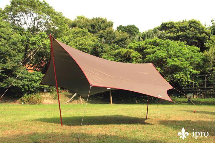 【ipro 岳峰戶外】Wing棕色蝶型天幕 戶外 帳篷 露營 露營裝備