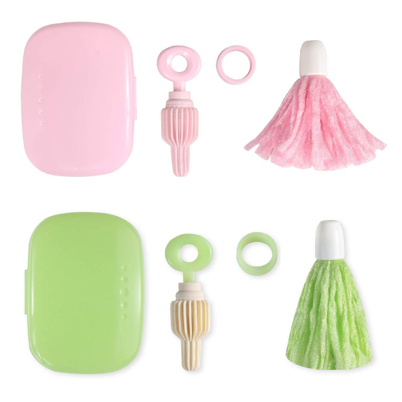 日本SANKO攜帶式魔法奶瓶刷組(粉色 / 綠色)嬰幼兒奶瓶奶嘴清潔刷 4