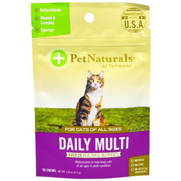 美國PetNaturals寶天然活力好好DailyMulti貓咪嚼錠,貓咪保健30顆