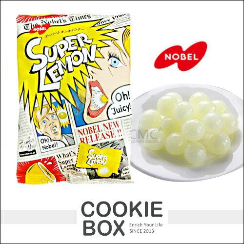 日本 NOBEL 諾貝爾 超級 檸檬糖 88g 糖果 風味糖 整人糖 硬糖 酸甜 零食 團購 *餅乾盒子*
