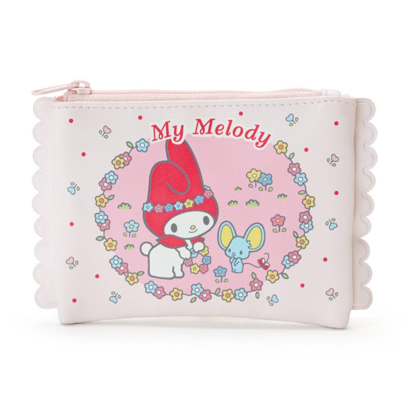 【真愛日本】4901610950456 面紙拉鍊包-MM加ACC 三麗鷗melody美樂蒂 面紙包 收納包 化妝包