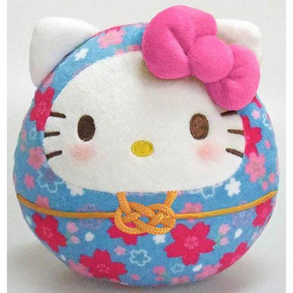 【凱蒂貓達摩娃娃】凱蒂貓 櫻花 新年 達摩娃娃 藍 日本正品 該該貝比日本精品