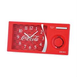 Seiko 精工鐘 (QHP901R) 可口可樂系列滑動式秒針音樂鬧鐘/15*7.5cm